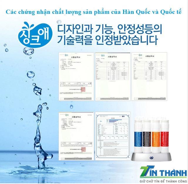 giấy chứng nhận Máy Lọc Nước Nóng Lạnh Tại Đà Nẵng giá rẻ waterpia