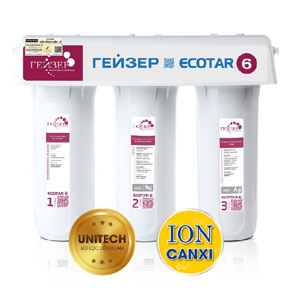 Máy lọc nước Ion Canxi Geyser ECOTAR 6 chính hãng Nga năm 2019